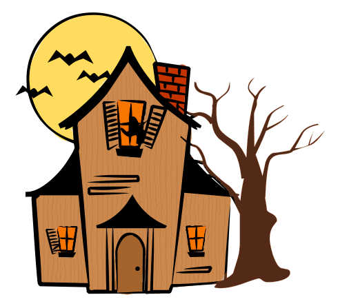 490x444 Spooky Clipart Haunted Hayride