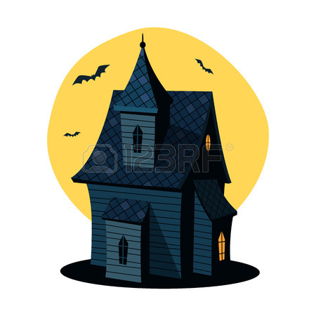 450x450 Cartoon Haunted House Royalty Free Cliparts, Vectors, And Stock