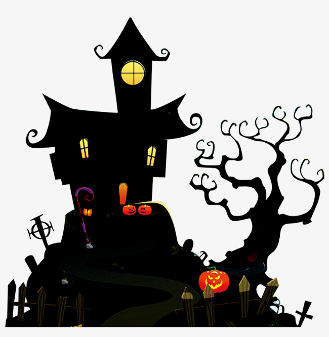 650x666 Pumpkin Haunted House, Halloween, Night Png, Cartoon Hand Drawing