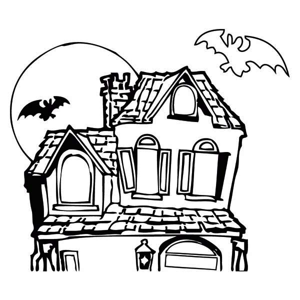 600x600 Drawn Haunted House Cartoon