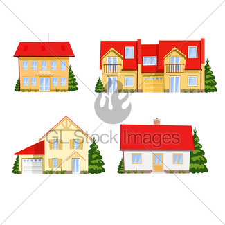 325x325 Cartoon House Gl Stock Images