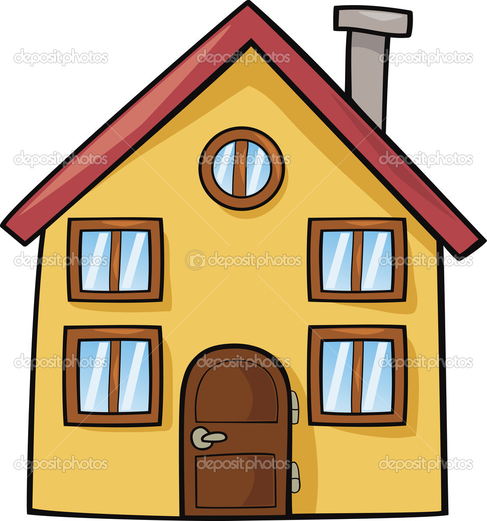 957x1024 Cartoon Of House