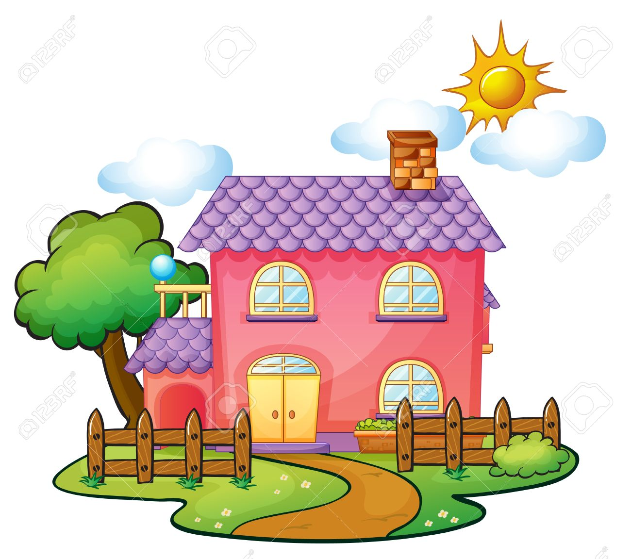 1300x1152 Images Of Beautiful Houses Cartoon