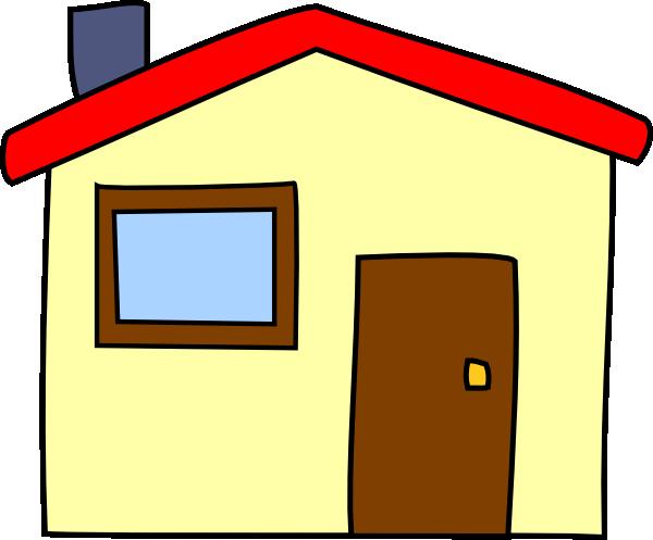 600x497 Simple Cartoon House Clip Art