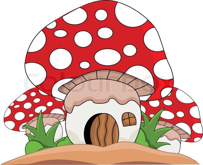 800x649 Vector Illustration Of Cartoon Mushroom House Vector Colourbox