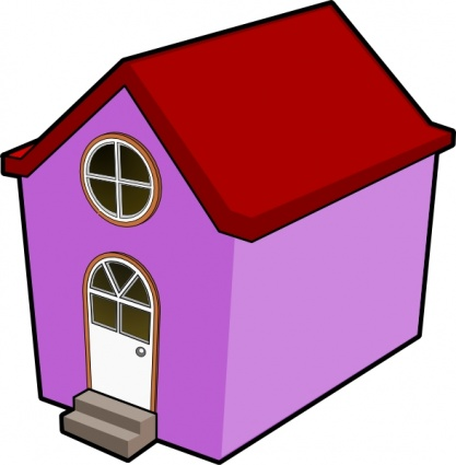 417x425 Cartoon Houses Clipart