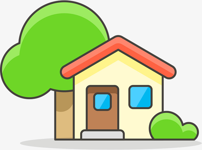 650x484 Cartoon Lovely Houses And Trees, Cartoon Children, House, Tree Png