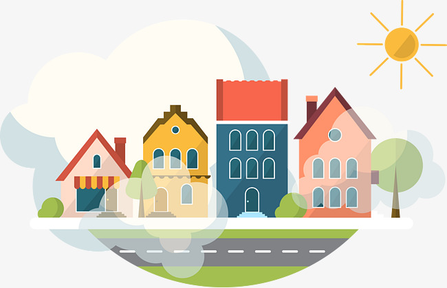 650x419 Cartoon Pollution Vector, Houses, Color, Fog Png And Vector