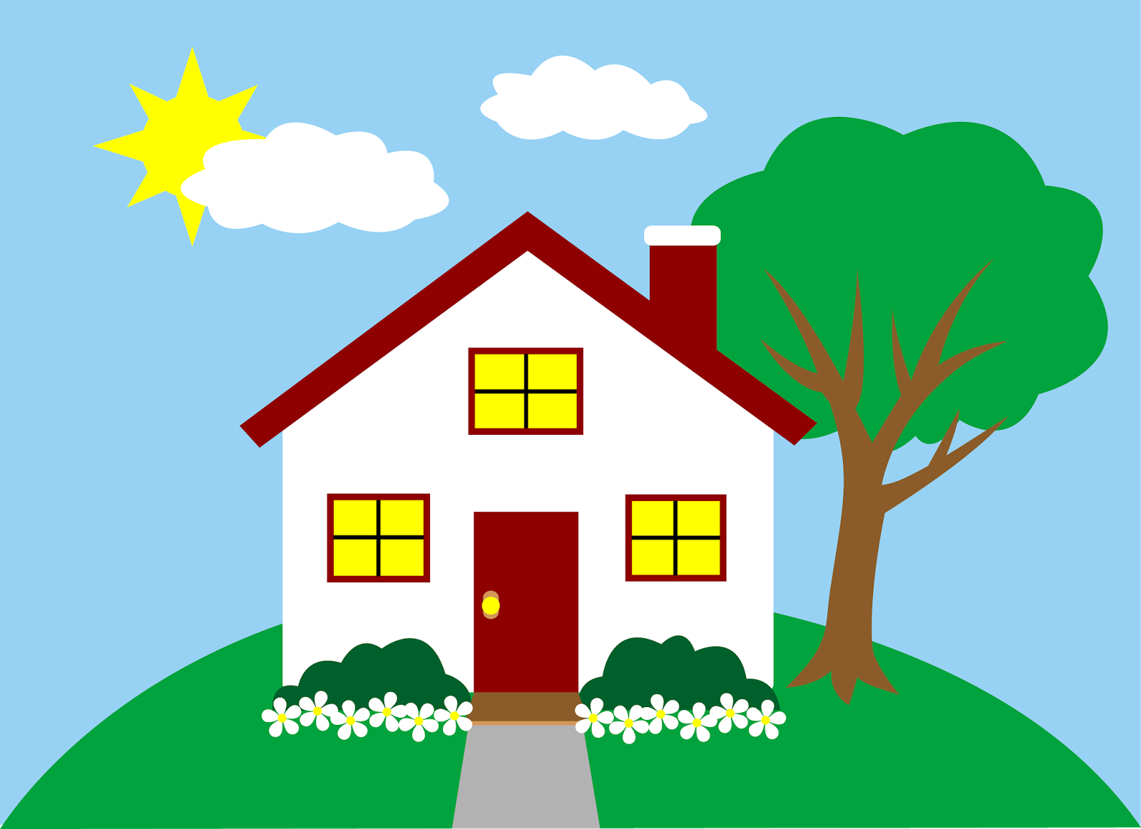 1600x1163 Bungalow Clipart Outside House
