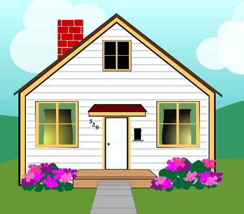 500x438 Cartoon Cliparts House