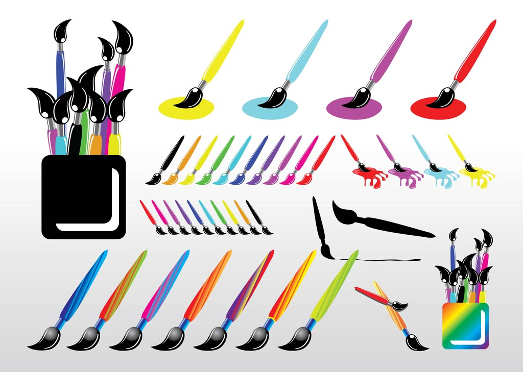1024x729 Picture Of Paint Brushes