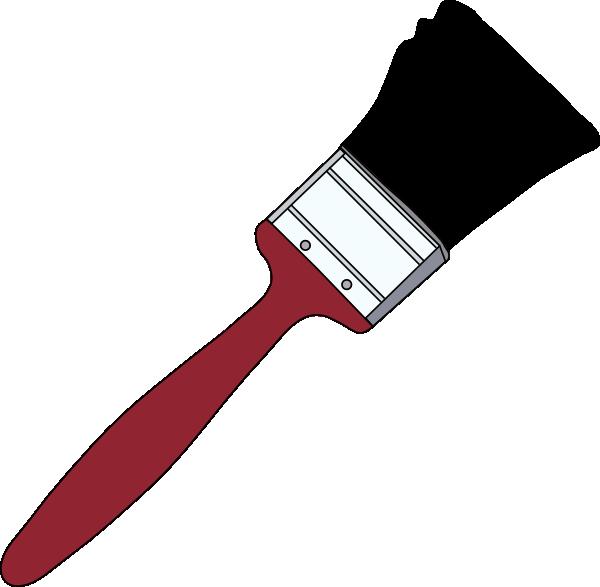 600x587 Tom Red Paintbrush Clip Art