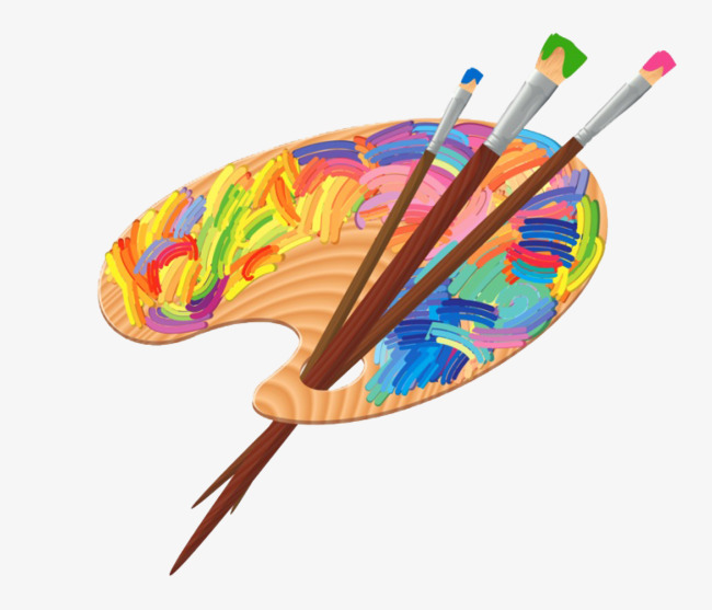 650x557 Painting Brushes And Paint Board, Brush, Pigment Edition, Cartoon