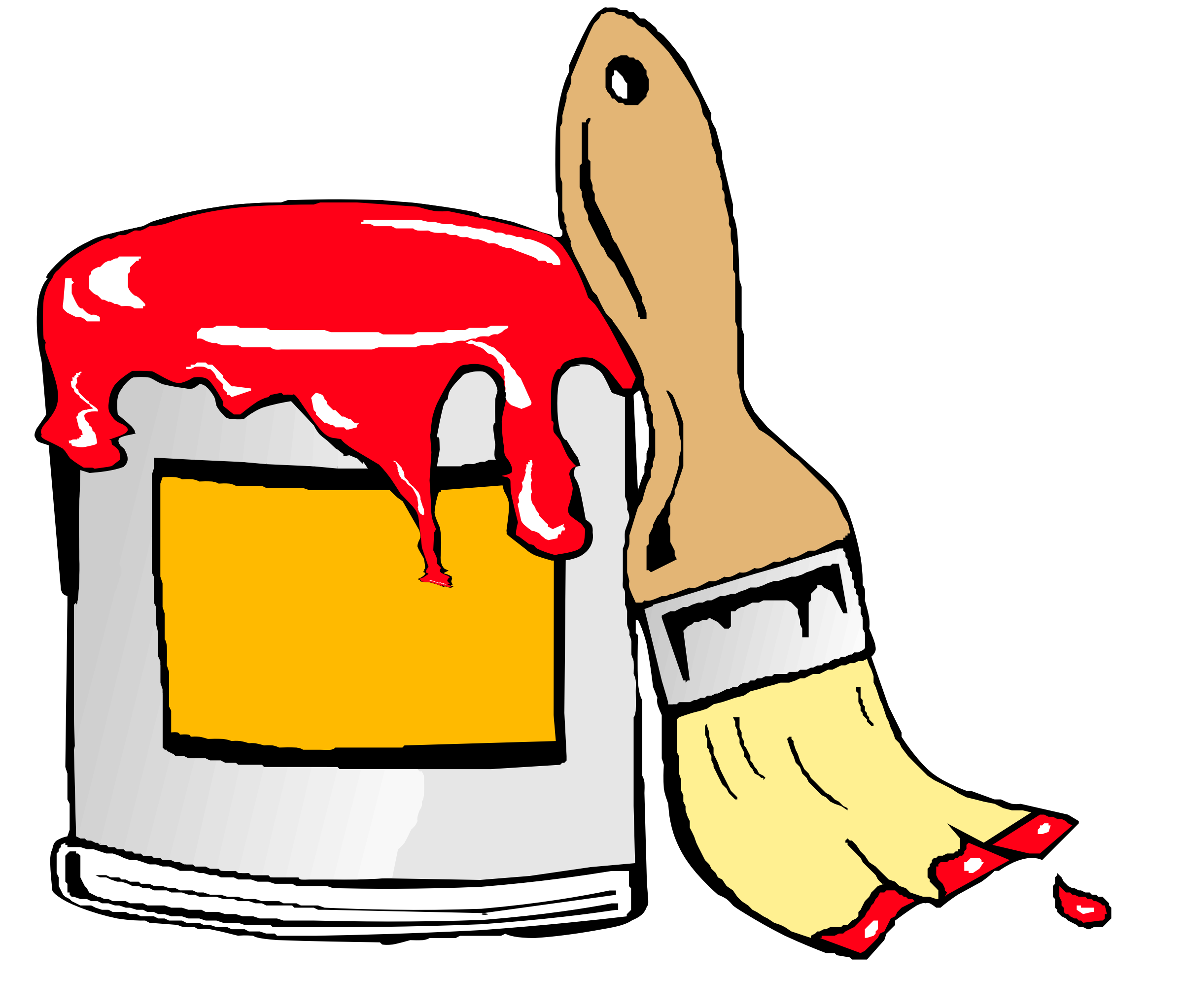 2400x2046 Can Clipart Paint Brush