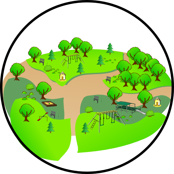 600x600 Country Park Clip Art