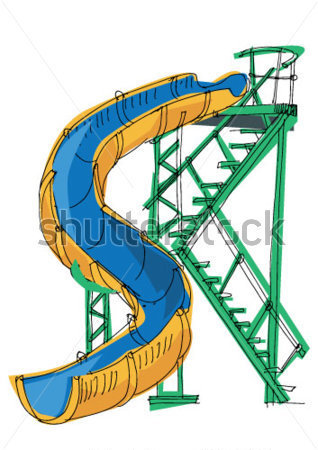 318x450 Water Slides In Water Parks Clipart