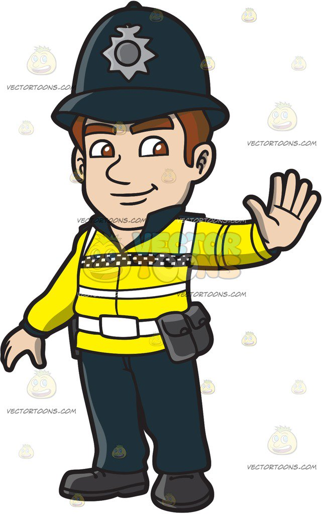 645x1024 A British Male Traffic Police Cartoon Clipart