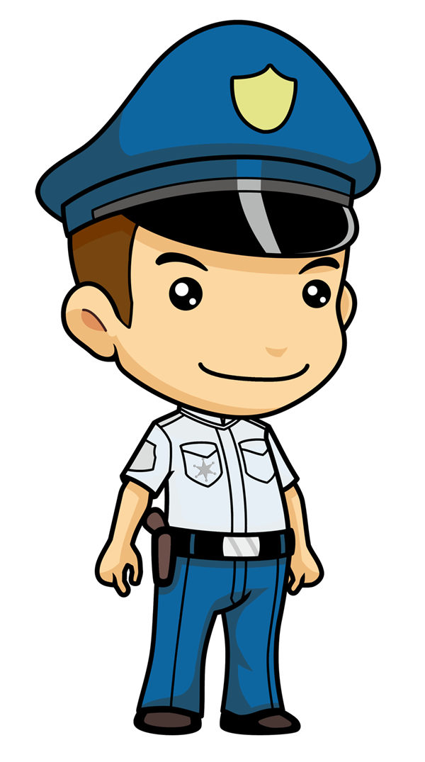 600x1075 Police Officer Clipart