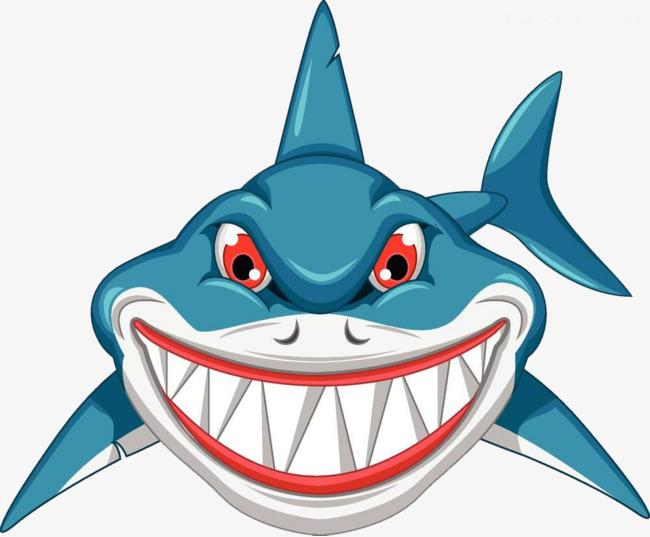 650x537 Hand Painted Cartoon Shark, Shark, Cartoon, Hand Drawn Shark Png