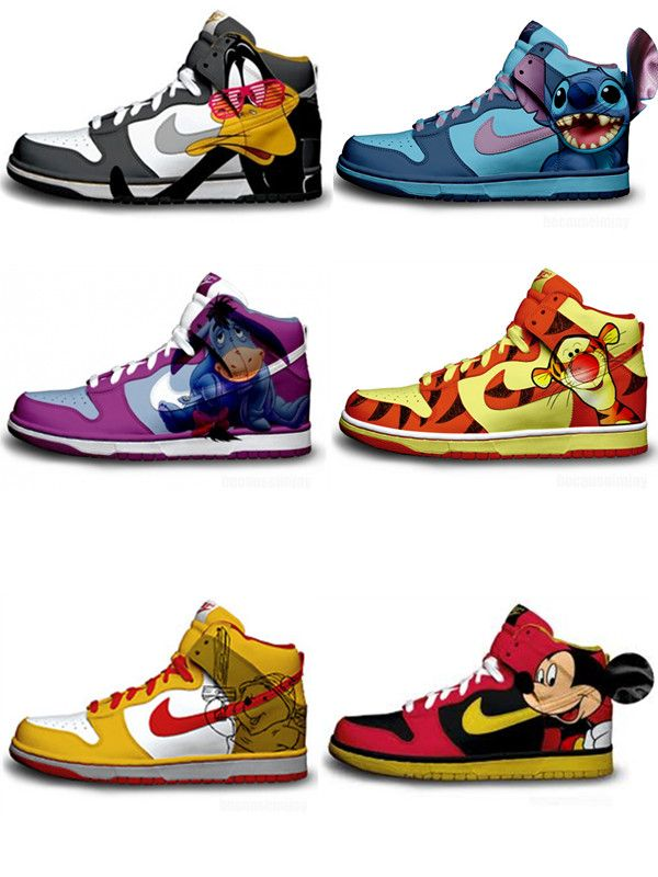 600x800 228 Best Cartoon Nike Dunks Images Glitter, Nike