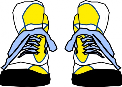 425x302 Clothing Shoes Sports Hightop Sneakers Vector, Free Vector