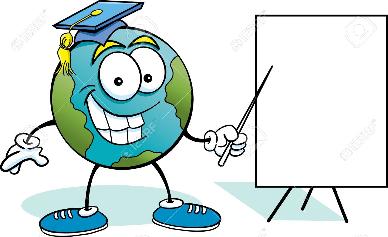 1300x795 Cartoon Illustration Of The Earth With A Sign Royalty Free