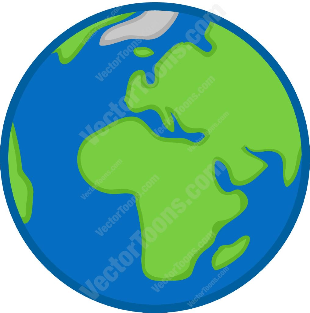 1016x1024 Earth From Space Cartoon Clipart