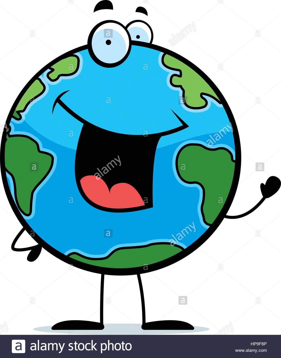 1092x1390 Happy Cartoon Planet Earth Waving Stock Photos Amp Happy Cartoon