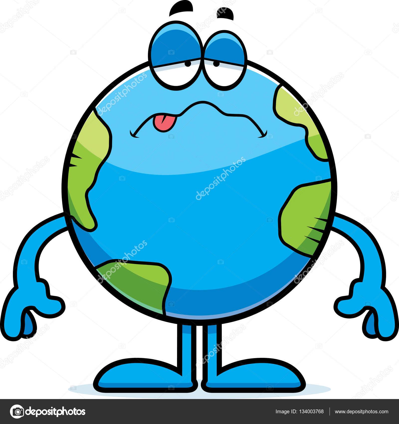 1600x1699 Sick Cartoon Earth Stock Vector Cthoman