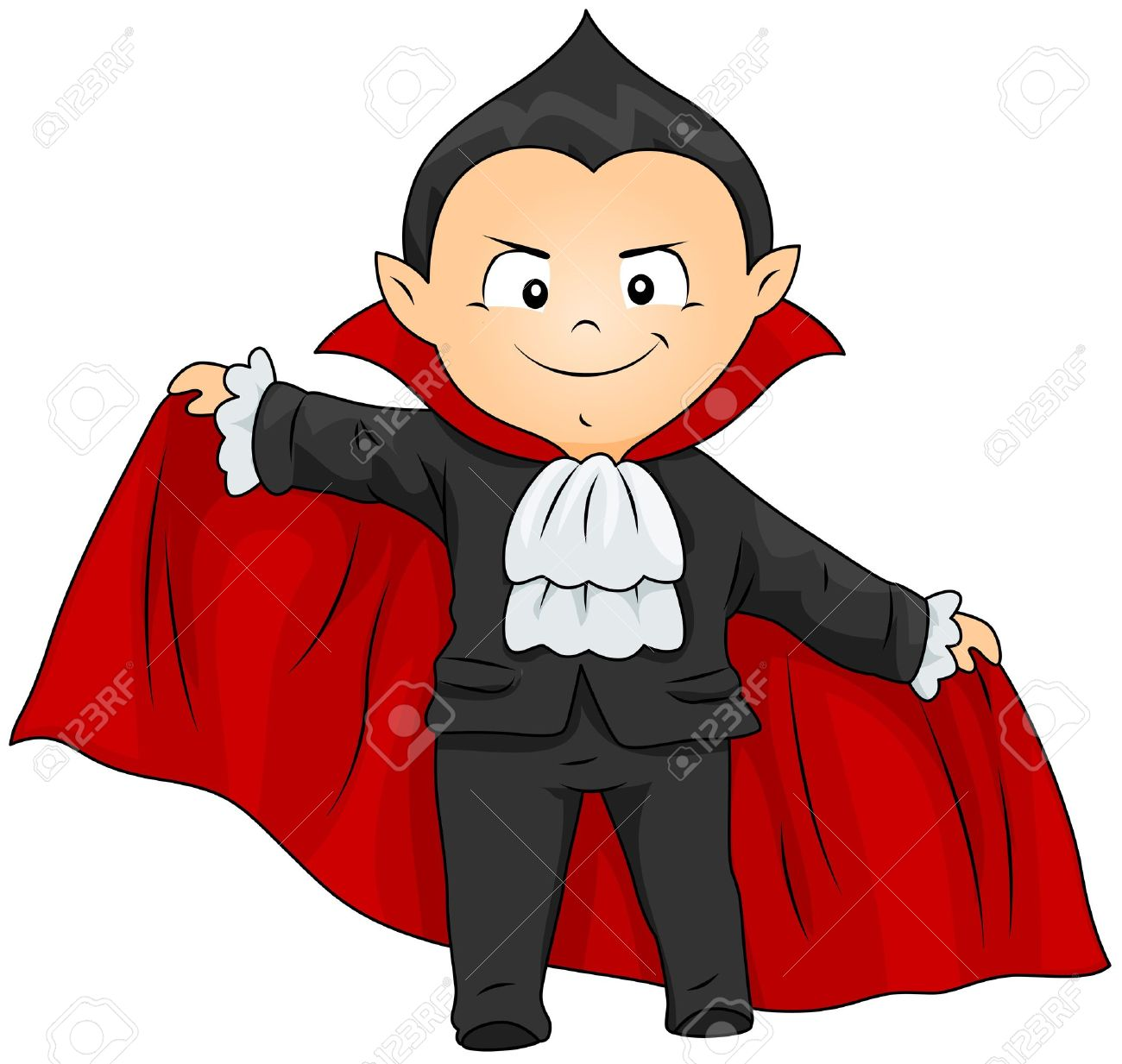 1300x1233 Of A Boy In A Vampire Costume Stock Cartoon Vampire Clipart Id