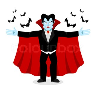 320x320 Cartoon Dracula Bat Vector. Charming Bat Vampire. Cartoon Dracula