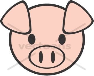 Cartoon Pig Face Clipart