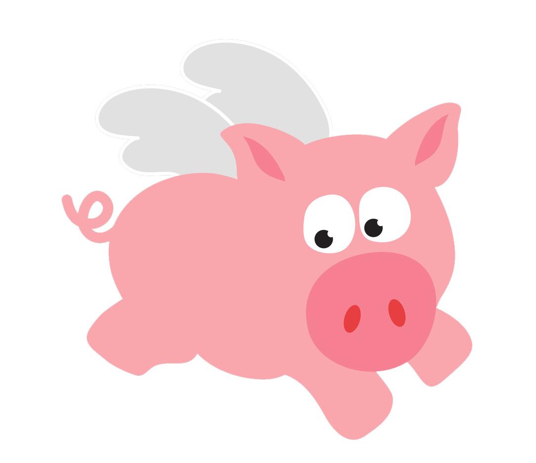 1084x936 Cartoon Pig Clipart