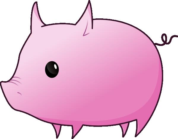 600x469 Cartoon Pig Clipart