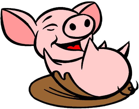 589x463 Cartoon Pig Clipart