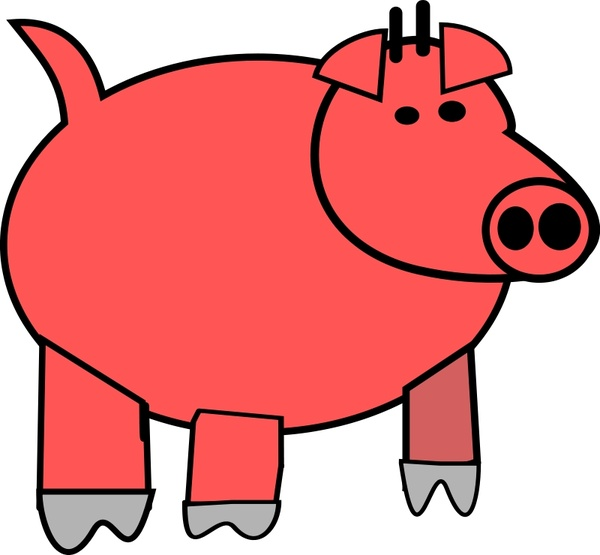 600x555 Cartoon Pig Free Vector In Open Office Drawing Svg ( Svg ) Vector