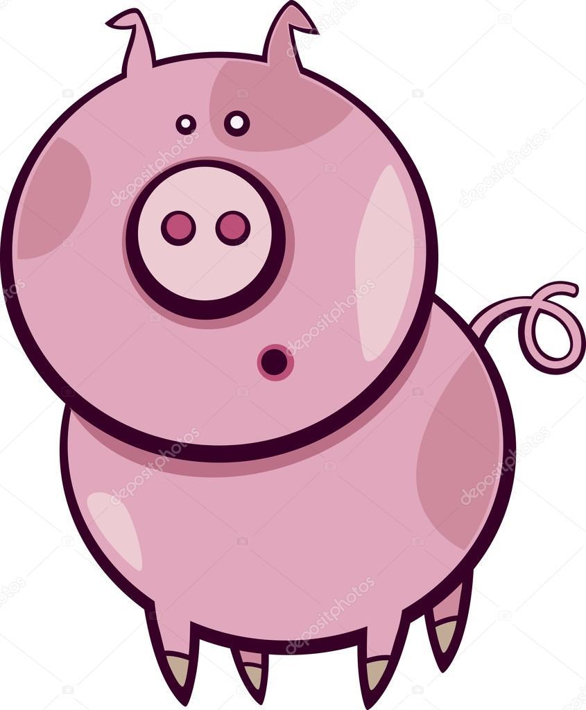845x1024 Cartoon Pig Stock Vector Izakowski