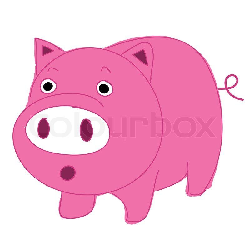 800x800 Cute, Fun And Funny Cartoon Pig Stock Vector Colourbox