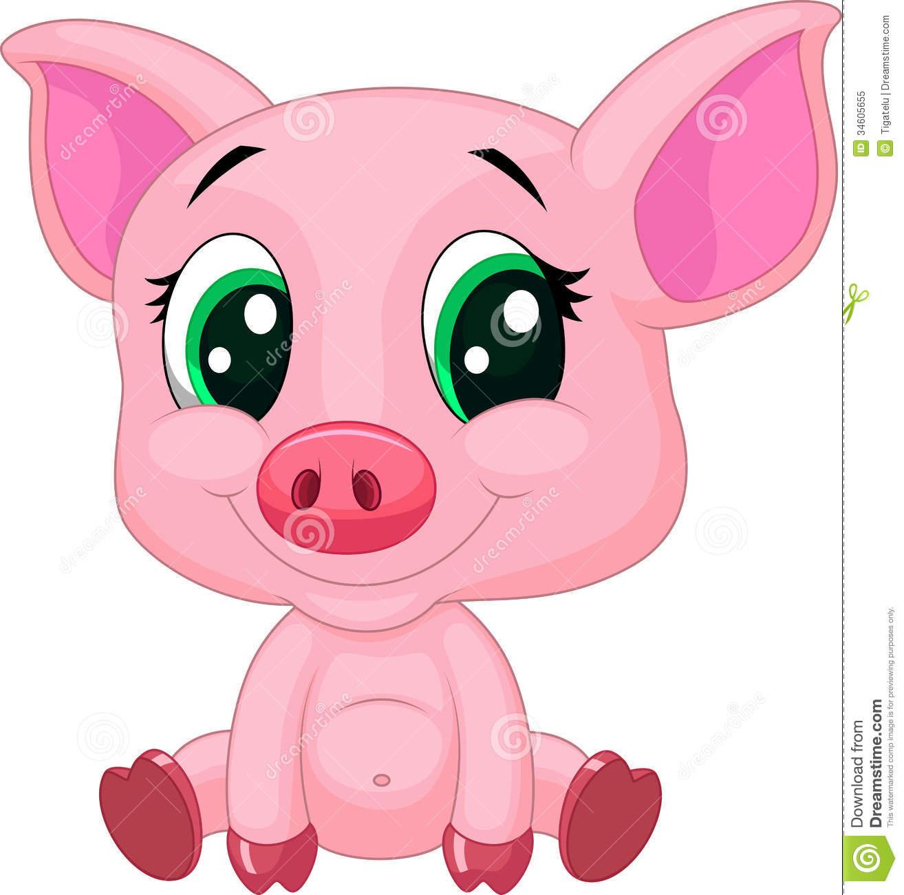 1314x1300 Cute Cartoon Pig Clipart