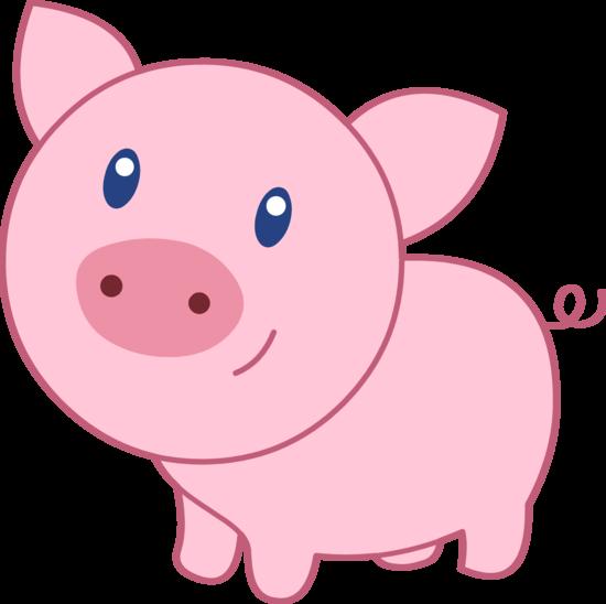 550x548 Cute Pig Clipart