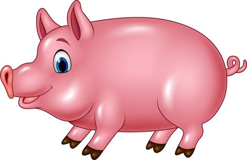 500x323 Cute Cartoon Pig Vector