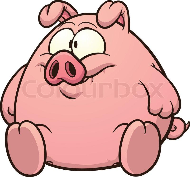 800x744 Fat Pig Clip Art. Vector Cartoon Illustration With Simple