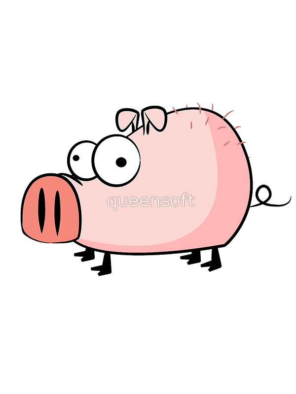 600x800 Funny Cartoon Pig Stickers By Queensoft Redbubble