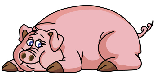 500x244 Pig Cartoon