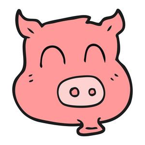 300x300 Freehand Drawn Cartoon Rich Pig Royalty Free Stock Image