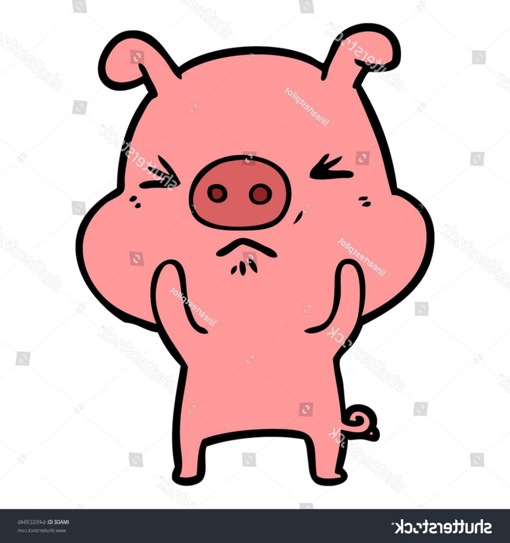 1024x1092 Best 15 Stock Vector Cartoon Angry Pig File Free
