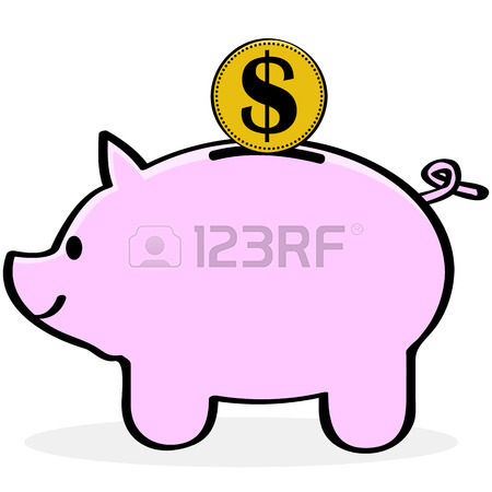 450x450 Cartoon Illustration Of A Scared Pig Royalty Free Cliparts