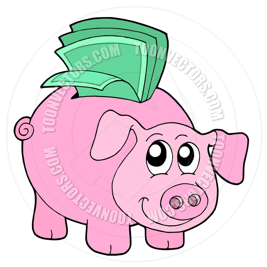 940x940 Cartoon Piggy Bank Money Box Clipart Panda