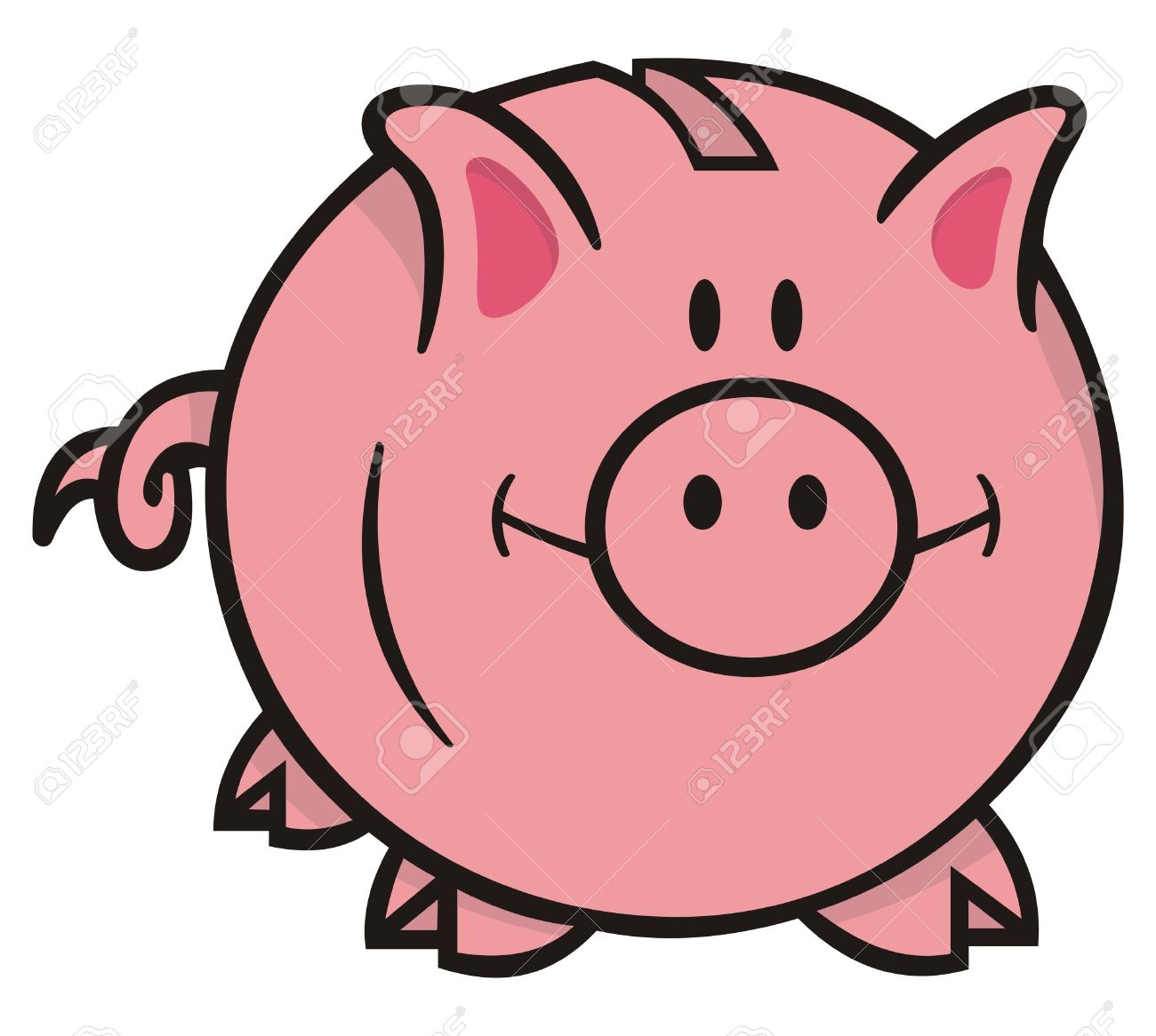 1300x1166 Cartoon Piggy Bank Clipart