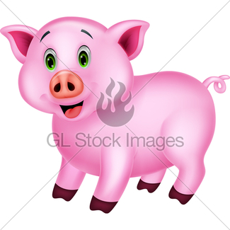 325x325 Cute Pig Cartoon Gl Stock Images